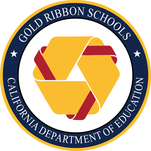 The seal for Gold Ribbon Schools from the California Department of Education
